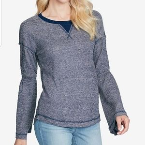 NWT Jessica Simpson Ionna Bell Sleeves Blouse L